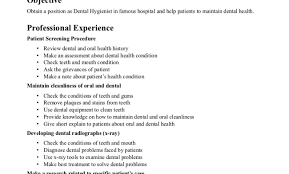 Dental Hygiene Resume Sample Dental Hygienist Resume Dental