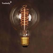 Tanbaby Edison Style Led Filament Bulb E27 Retro Led Lamp Vintage 40w G80 Vintage Ac220v Energy Saving Spiral Lamp