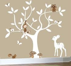 nursery swirl white tree bird owl leaf leaves squirrel owls home house art decals wall sticker vinyl wall decal stickers baby bed room on tree wall art baby nursery with 27 best nursery images on pinterest child room baby room and baby