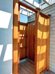 wooden outdoor shower wooden outdoor shower cottage exterior of home with k chrome industrial exposed shower wooden outdoor shower