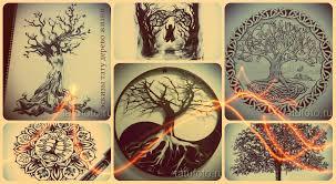 эскизы тату дерево жизни рисунки для интересных тату дерево жизни
