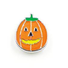 <b>50pcs lot</b> Halloween pumpkin <b>charms</b> slide <b>charm</b> Internal Dia.<b>8mm</b> ...