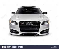 car white background front. Beautiful Car Silver 2016 Audi S8 Plus Sedan Luxury Car Front View Isolated On White  Background  Stock Inside Car White Background Front A