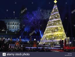 2017 National Tree Lighting National Christmas Tree After Lighting Stock Photos