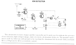 sensors detectors radiation monitors ion detector schematic only no circuit description
