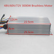 <b>48V 60V 72V 3000W</b> Brushless Controller 60A 24Mosfet for BLDC ...