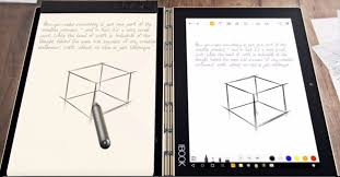 lenovo yoga book copies handwriting off paper notepads