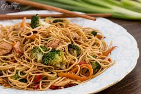 chinese food fried noodles. Unique Food Chicken StirFry Noodles On Chinese Food Fried