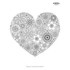 Cool Heart Adult Coloring Page Free Printable Orientaltrading Free