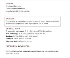 Resume Format Of Fresher Resume Format For Freshers Download By Best ...