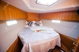 Bedroom Inside A Luxury Yacht Stock Photo Picture And Royalty Free