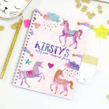 personalised unicorn notebook magic unicorn gifts for children