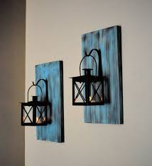 wooden candle sconce wall sconce wall