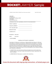 Divorce Settlement Agreement Template With Sample Amazing Divorce Paper Template