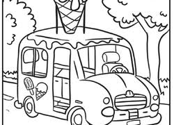 ice cream truck coloring pages. Modren Pages To Ice Cream Truck Coloring Pages T