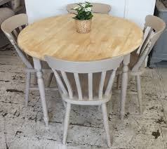 rubber wood table and chairs. lovely round rubber-wood table. painted in: rustoleum \u0027butterscotch\u0027 this sweet rubber wood table and chairs l