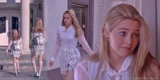Cher Alicia Silverstone in argyle miniskirt sheer white shirt.