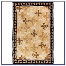 rugs black fleur de lis rug lys rugby club