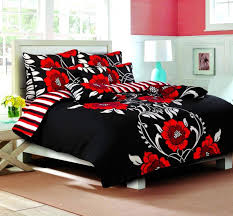 duvet cover with pillow case quilt cover bedding set sy black red