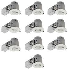 white ic rated recessed lighting kit 10 pack led bulbs included 4