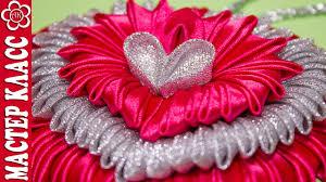 <b>Подвеска</b> Сердце Канзаши / Видео урок Куликовой / St. Valentine ...