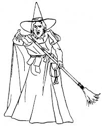 Printable Witch Coloring Pages