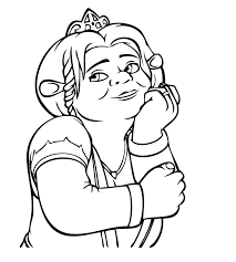 Small Picture Shrek Coloring Pages chuckbuttcom