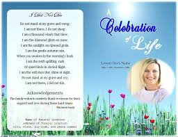 Free Download Funeral Program Template Awesome Free Editable Funeral Program Template Word Obituary For Download