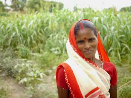 Kitchen Garden International Posing In Front Of Her Kitchen Garden Bihar India Heifer