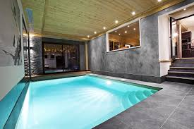 Swimming Pool:Modern Small Indoor Swimming Pool Design With Stone Surround  Ideas Charming Modern Ondoor