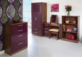 Purple High Gloss Bedroom Furniture Welcome Furniture Knightsbridge Desk