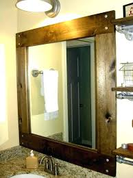 wood framed bathroom mirrors. Framed Bathroom Mirrors. Plain Elegant Wood Mirrors Wooden Throughout Oval White Inside A