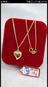 18k saudi gold necklace and pendant