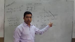 linear equations infinite no solutions unique solution