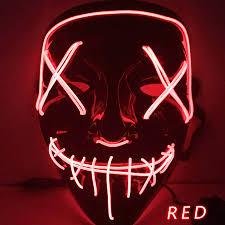 Halloween Led Light Up Purge Mask Pin On Street Styles Winter