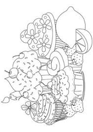 Small Picture Beautiful Sweet Cupcake Coloring Pages Hobby love Pinterest