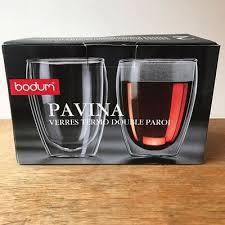 new bodum pavina 12 ounce double wall paroi set of