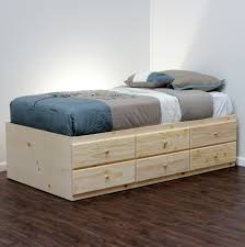 Bedroom Leather Bed Frames With Storage Single Bed With Drawers ...