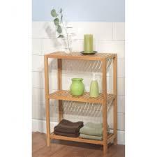 Simple Bamboo Bathroom Storage - Bathroom Storage Galleries pertaining to  Bamboo Bathroom Shelving