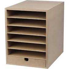a4 paper card storage filing cabinet mdf wood wooden strong 6 shelves 1 drawer