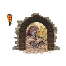 cute rat hole wall decal sticker moule s nest wall art applique kids room living room wall border decor wallpaper decoration wall graphic cute rat hole wall