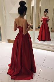 ball dresses. red long prom dresses, elegant satin dress, ball gown, simple sweetheart dress for 2017 dresses