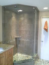 another corner frameless shower swing style shower door