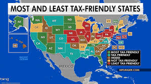 Tennessee Sales Tax Chart 2018 The Most And Least Tax Friendly States In The Us Fox