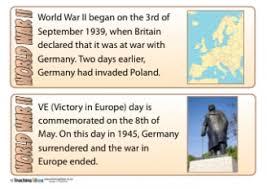 world war teaching ideas world war ii fact cards