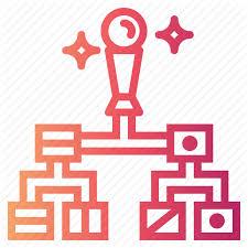 Diagram Hierarchical Hierarchy Organization Icon