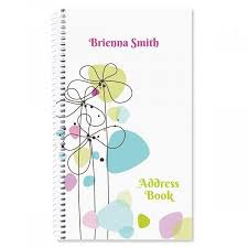 Sketched Flowers Lifetime Address Book Address Books Organizer