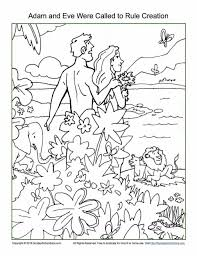 Page Coloring Pages God Made The Animals Fish Birds Creation For Kin
