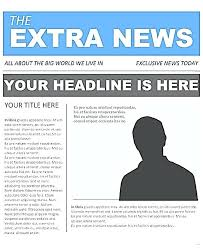 Office Newspaper Template Front Newspaper Template For Openoffice Open Office Article