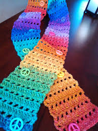Easy Crochet Scarf Patterns For Beginners Free Adorable SmoothFox Crochet And Knit SmoothFox Easy Peace Sign Skinny Scarf